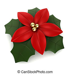 Poinsettia - 3D Illustration of a Poinsettia