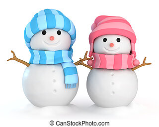 Couple Snowmen