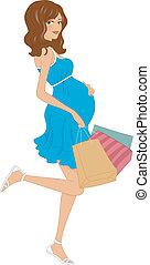 grávida, comprador