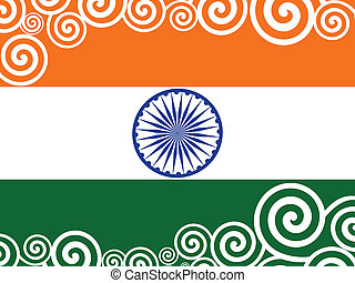 Vector illustration of decorated  Indian Flag for Republic Day.