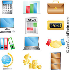 Business office icons - A vector illustration of business...