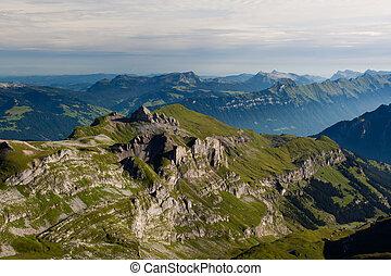 montagna,  schilthorn, vista