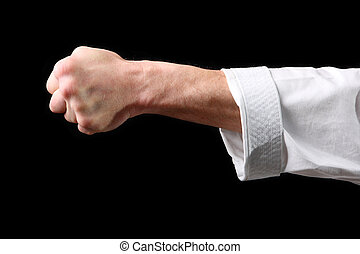 Fist. Hand fighter karate
