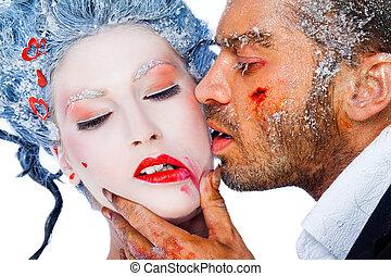 frozen kiss red lipstick
