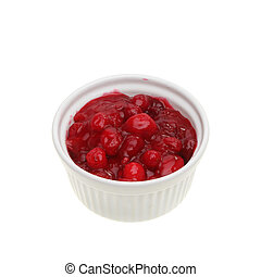 Cranberry sauce - Fresh homemade cranberry sauce in a...