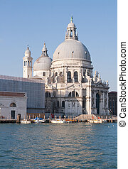 Church at Grand canal Venice Italy