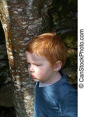 Red haired toddler boy - red haired toddler boy in natural...