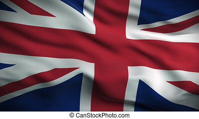 British Flag HD. Looped. - HD 1080. Highly detailed British...