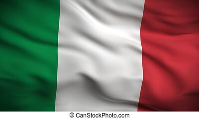 Italian Flag HD. Looped. - HD 1080. Highly detailed Italian...