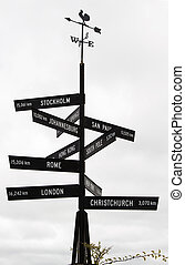 """From Here to There, McLaren Vale signpost - From """"here to..."""