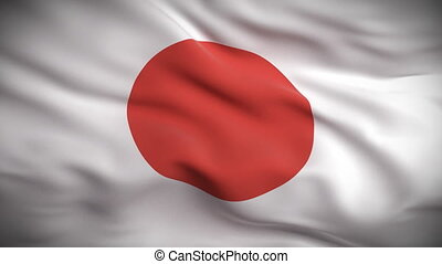 Japanese Flag HD Looped - HD 1080 Highly detailed Japanese...