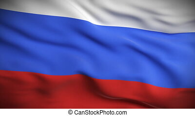Russian Flag HD. Looped. - HD 1080. Highly detailed Russian...
