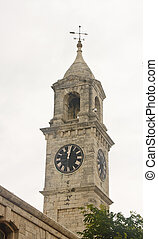 Clock Tower on Naval Dockyard in Bermuda - View of the Naval...