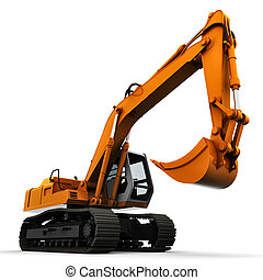 bagger 3d white background - bagger 3d