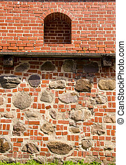 Architectural Vilnius defence wall background -...