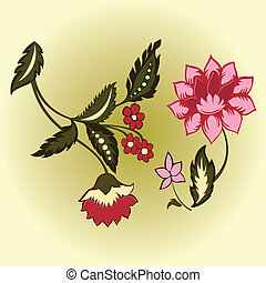 two flowers vector