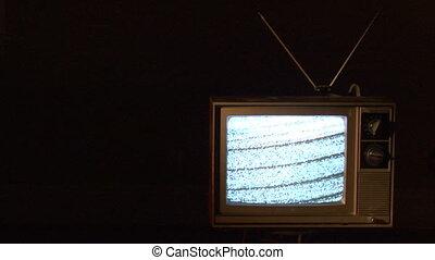 TV plain yellow dark