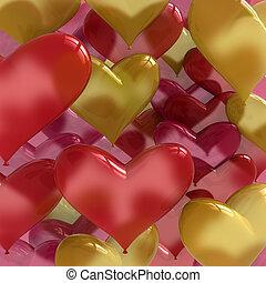 heart shaped love balloons