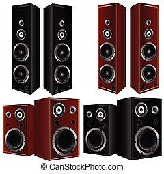speaker in brown and black color vector art illustration