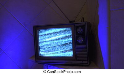 TV multi color tile - This is a unique shot of a retro...