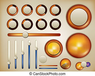 spehrical infographic elements - abstract vector...