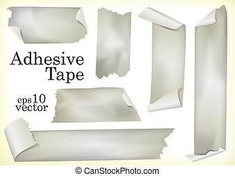 Adhesive Tapes - A Set of Vector Illustrations of Adhesive...