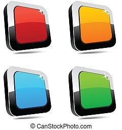 Rectangular 3d buttons. - .Blank 3d rectangular buttons....