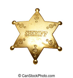 Sheriff Badge - An isolated shot of a sheriff badge