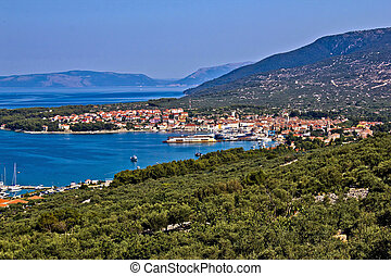 Adriatic Town of Cres bay