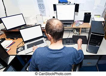 computador, técnico