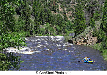 Whitewater Rafting - White water rafting in the mountain...