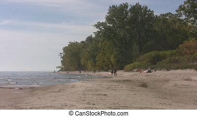 Late Ontario beach. - A beach on Lake Ontario in late...