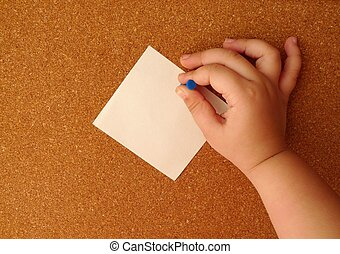 board paper - attach the paper to the clipboard