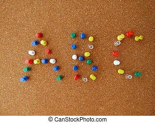 ABC - abc cork board