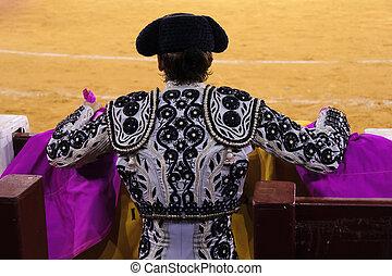 bullfighter - Spanish bullfighter seen from behind