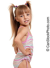 Girl wearing swimsuit_0746jpg - Little beautiful girl...