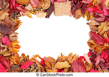 potpourri - Frame of potpourri isolated on white background