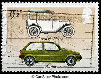 Postage Stamp - UNITED KINGDOM - CIRCA 1982: A British Used...