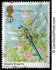 Insect Postage Stamp - UNITED KINGDOM - CIRCA 1985: A...