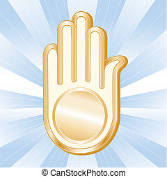 Jain Symbol. Golden Ahimsa - Golden Ahimsa, symbol of the...