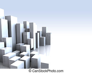 city background - abstract 3d illustration of bright...