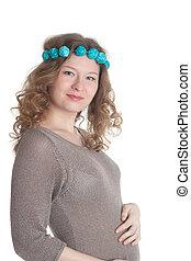 Portrait of the pregnant woman