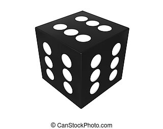 winner dice - 3d illustration of winning dice cube over...