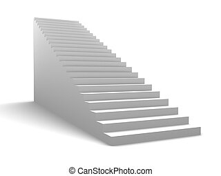 stairway - 3d illustration of generic stairway over white...