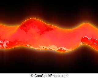 lava - abstract 3d illustration of red colors lava...