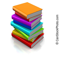 books - 3d illustration of colorful books