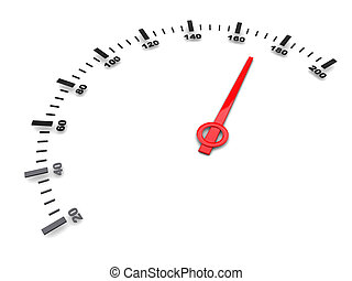 fast speed - abstract 3d illustration of fast speed gauge