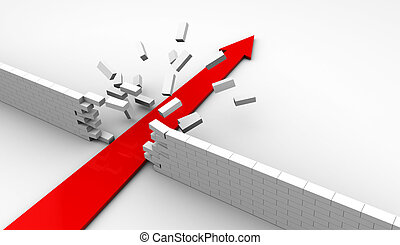 strong arrow - abstract 3d illustration of strong arrow...