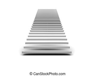 stairway - abstract 3d illustration of stairway over white...