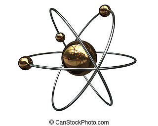 atom symbol - abstract 3d illustration of atom symbol...